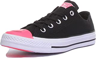 Chuck Taylor All Star Black/Racer Pink/White Carnival Colorblock Lo Top