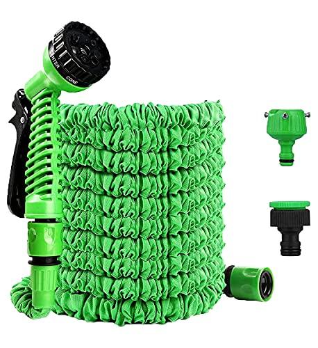Arcoiris Manguera Extensible con la Presión del Agua, 30M, Manguera Jardin Flexible Enrollador Manguera de Jardín (30 Metros, 1 Unidad)