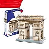 YYF 3D Rompecabezas Tridimensional Francesa Arco del Triunfo Juguetes de los niños DIY Hecho a Mano de 3-6 años de Edad Modelo de Papel