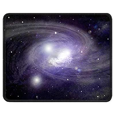 BOSOBO Gaming Mouse Pad, Anti Slip Nebula Mouse Mat for Desktop, Computer, PC and Laptops, Customized Starry Night Mouse Pad for Office and Home, Stitched Edge, Waterproof, Rectangle 10.2 x 8.3 Inch