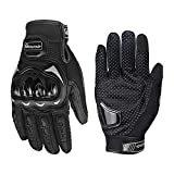 CHIYUNS Touchscreen Motorcycle Full Finger Gloves for Men Women, Hard Knuckle Motorbike Gloves for BMX ATV MTB Riding, Road Racing, Cycling, Bike, Climbing, Motocross etc, Hiking, Outdoor Sports