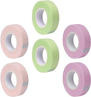 Lurrose Pestana Adesiva Fitas 6 Rolos de Tecido Respirável Fita Dos Cílios Lash Extensão Isolamento Patches para As Mulher...