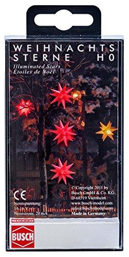 Busch 5416 - DREI rot leuchtende Weihnachtssterne, Fahrzeug