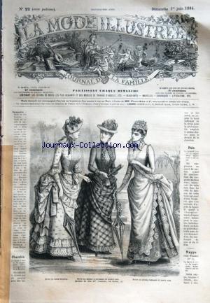 MODE ILLUSTREE (LA) [No 22] du 01/06/1884 - CHASUBLE - MODELES DE CHEZ MME COUSSINET - NAPPE POUR ETAGERE - PALE