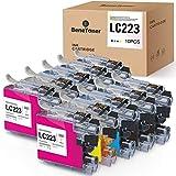 10 cartuchos de tinta compatibles con Brother LC223 LC223XL para Brother MFC-J4420DW MFC-J4620DW MFC-J5320DW MFC-J5620DW MFC-J5720DW MFC-J480DW J680DW J880DW DCP-J4120DW DCP-J562DW