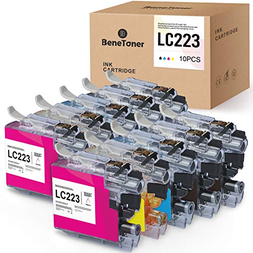 BeneToner Lot de 10 cartouches d'encre compatibles avec Brother LC223 LC223XL pour Brother MFC-J4420DW MFC-J4620DW MFC-J5320DW MFC-J5620DW MFC-J5720DW MFC-J480DW J680DW J880DW DCP-J4120DW DCP-J562DW