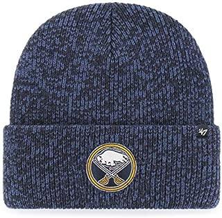 '47 Buffalo Sabres Navy Brain Freeze Cuff Beanie Hat - NHL Cuffed Winter Knit Toque Cap