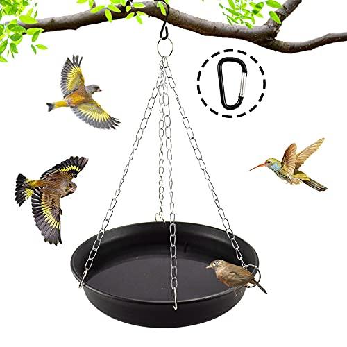 GABraden Vogeltränke hängend 27,9 cm Vogeltränke groß Garten Balkon- Vogelfutterspender mit Vogeltränke, Vogeltränke mit Ketten für Hof, Garten und Vogeltränke im Freien