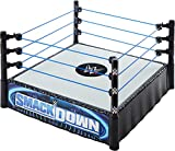 WWE Superstar Ring (14-in) with Spring-Loaded Mat & Real Flex Ropes for Action Figures; Gift for Ages 6 Years Old & Up