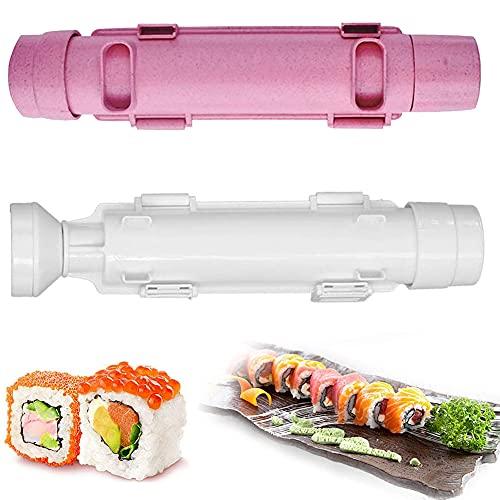 FANDE Stampo per Sushi - Kit per Sushi Fai Da Te, Kit Sushi Maker Roller Bazooka, Stampo per Palla di Riso per Sushi, Riso Rotolo Stampo, per gli Amanti del Sushi, Principianti