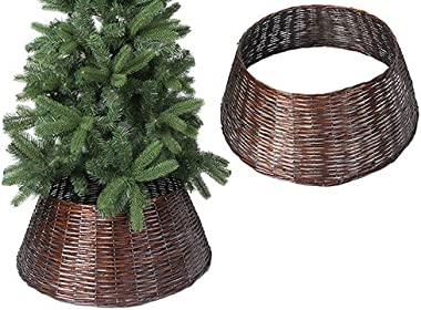Toyland Willow Tree Skirt - Tree Base Cover- Christmas Decoration (Brown, 56cm)