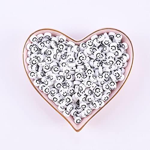 Cuentas de coraz¨n de 100/200/500 Uds para hacer joyas, cuentas mixtas acr¨ªlicas con letras para pulsera, collar de pulsera hecho a mano Diy