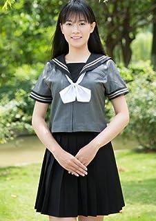 (sunlike)セーラー服⑰ 夏服 グレーのミッション系 S~Lサイズ (S)