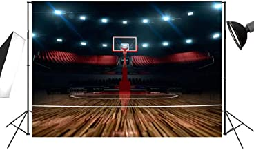 Basketball Court Photography Backdrop 7x5ft for Sports Club Indoor Wall Decoration Studio Photo Props or Fans Living Room Background FT004