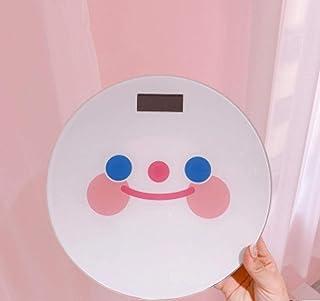 sufengshop Smiley Health Báscula electrónica Báscula del cuerpo humano Carga precisa Báscula de peso Pérdida de peso de niña Dormitorio en casa