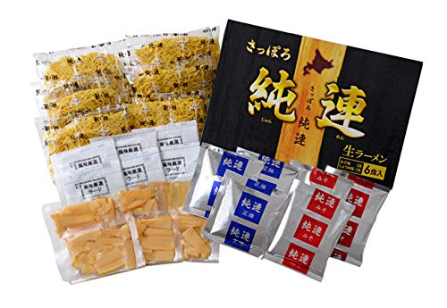さっぽろ 純連 (じゅんれん) 6食詰め合わせセット (味噌3食 醤油3食入り)お土産ラーメン