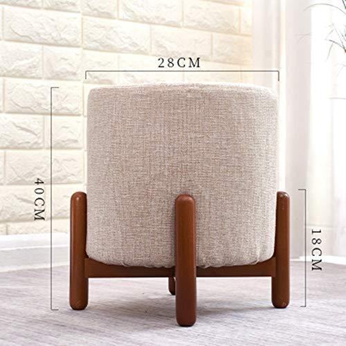 YaGFeng Fußschemel Massivholz Stilvolle Kleine Hocker Wohnzimmer Low Hocker for Schlafzimmer Und Flur Niedriger Stuhl (Color : Eleven, Size : 40x28cm)