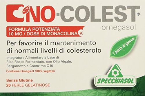 Specchiasol No-Colest Omegasol Formula Potenziata, 20 Perle Softgels