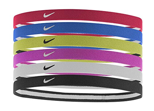 Nike Swoosh Sport Headbands 6pk, Assorted Colors, One Size