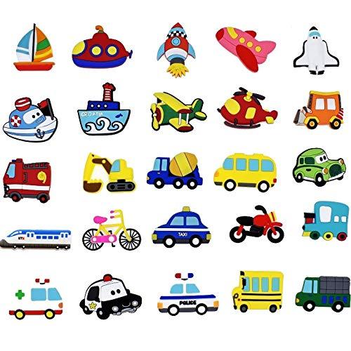 Huixindd 10 unids/Muchos 3D Dibujos Animados refrigerador Coche con imanes para niños imanes para refrigerador para decoración Familiar Niños Juguetes Regalos de niño (Cor : 10Pcs Cars)