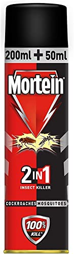 Mortein 2 in 1 Mosquito and Cockroach Killer Spray 250 ml