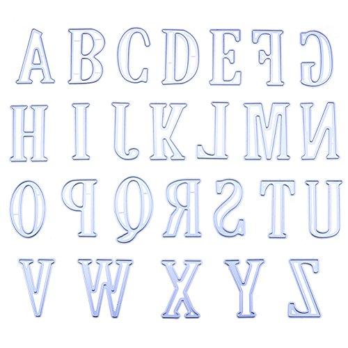 Zantec 5 cm grote grote letters van het alfabet, metalen stansvormen, sjablonen voor doe-het-zelf scrapbooking
