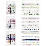 30 Rolls Washi Craft Tape, cinta adhesiva decorativa, cinta de álbum de recortes de enmascarado para diseños de tarjetas de manualidades de bricolaje, envoltura de regalos, planificador, álbum