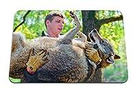 22cmx18cm マウスパッド (オオカミの手袋捕食動物) パターンカスタムの マウスパッド