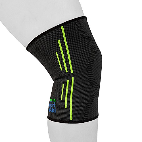 Life is Sport by Aki | Best Knee Compression Sleeve & Brace| Relieves Knee Pain | Supports ACL Tear, Meniscus Tear, MCL Tear | Knee Sleeve for Sports, Soccer, Basketball, Tennis & Weightlifting