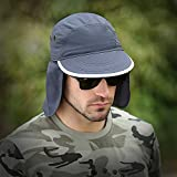 Mei XU Aire Libre Sombrero de Sol para Hombre/Impermeable/A Prueba de Polvo/Protección Solar/Capa ex...