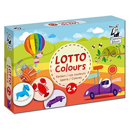 Captain Smart   Juegos educativos para niños   Juego de memoria   Juego de cartas de observación   Edad 2+   1-6 jugadores   Hecho en la UE (Colores Lotto)