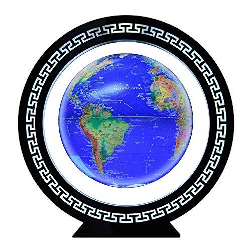MIEMIE 12 Pouces Lévitation Magnétique Globes Floating Ball Anti Gravity Rotating Carte du Monde avec LED pour Bureau Décoration Cadeaux d'anniversaire Décoration D'intérieur