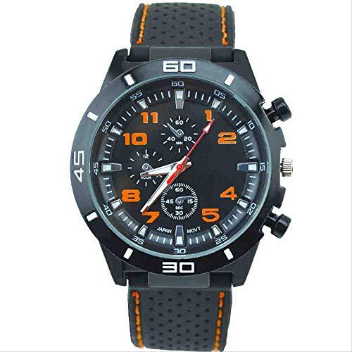 OLUYNG Reloj de Pulsera Nuevo Reloj de Silicona para Hombre con Estilo Estudiante Cool Sports Racer Watch