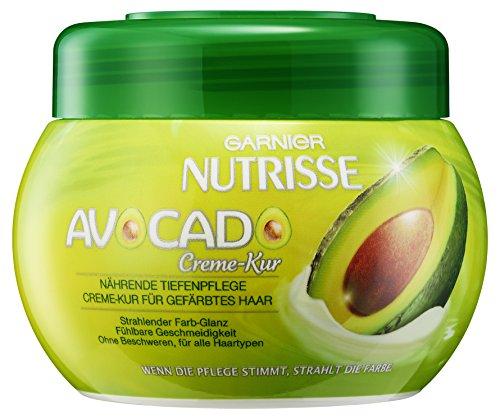 Garnier Nutrisse Avocado Creme-Kur, nährende Tiefenpflege für coloriertes Haar, strahlender Farbglanz, für alle Haartypen, 1er-Pack (1 x 300 ml)