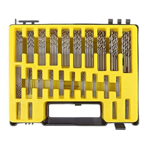 20pcs 0.3-1.6mm Mini Micro HSS Twist Drill Bits Set Kit Precision Craft Outil Boîte