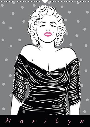 Marilyn (Wandkalender 2018 DIN A3 hoch): Illustrationen von Walter Prestele (Monatskalender, 14 Seiten )
