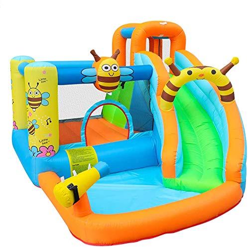 WSN Tobogán Inflable Gorila, Piscina de Agua de Diapositivas Escalador, Parque acuático, con tobogán de Agua, Pared, Pistola de Agua y Piscina Infantil Escalada