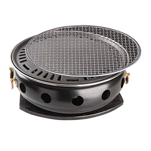 Firepits Charcoal Grill, Easy-to-Clean Copper-Colored Handle, Commercial self-Service Charcoal Grill, Household smokeless Charcoal, Indoor Charcoal Grill Special Pot