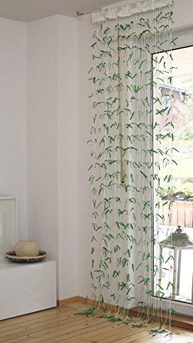 Quantum Interior Bambus Fadenvorhang ca.90x245cm -, Fadenvorhang mit Stabdurchzug,Fadengardine, Raumteiler, Türvorhang, Mückenschutz, Fliegenschutz, Faden Vorhang