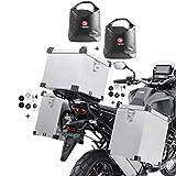 Set Maletas Laterales Aluminio Namib 2x35l + baul 45l + Bolsas + Kit