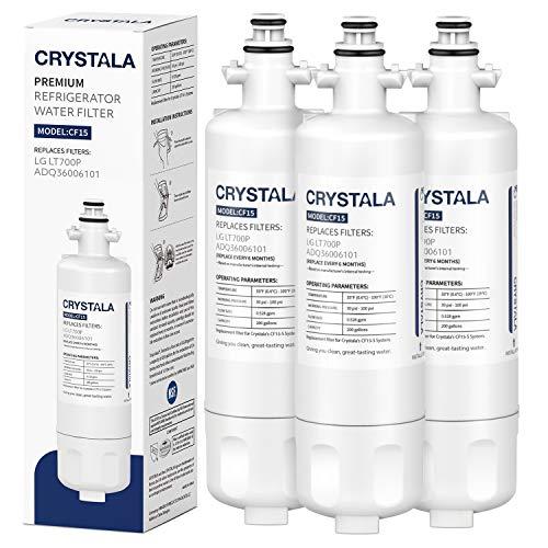LG LT700P Kühlschrank-Wasserfilter, Kenmore Elite Luftfilter, Ersatz kompatibel mit ADQ36006101 ADQ36006102, LFXC24726S, LFXS24623S, RWF1200A, Kenmore 46-9690, 9690, 2 Stück