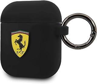 Scuderia Ferrari Silicone Case with Ring for AirPods 1/2 - Black