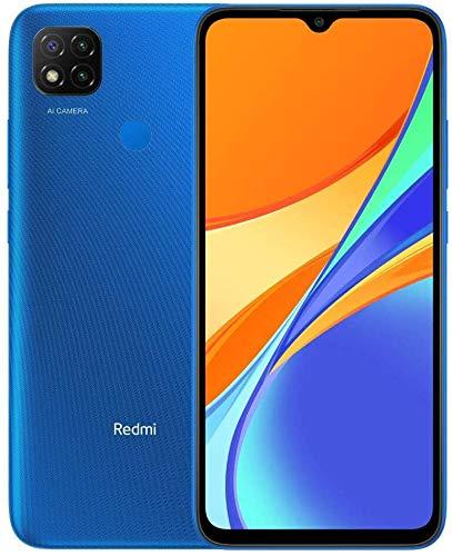 Xiaomi Redmi 9C Smartphone - 2GB 32GB 13MP AI Triple Camera 6.53'HD + Dot Drop Display 5000mAh (typ) with AI Face Unlock, Blue [NO NFC Version] [EEA Version ]