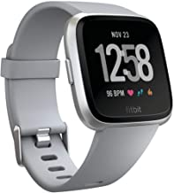 Fitbit Versa Smart Watch, Gray/Silver Aluminium, One Size (S & L Bands Included)