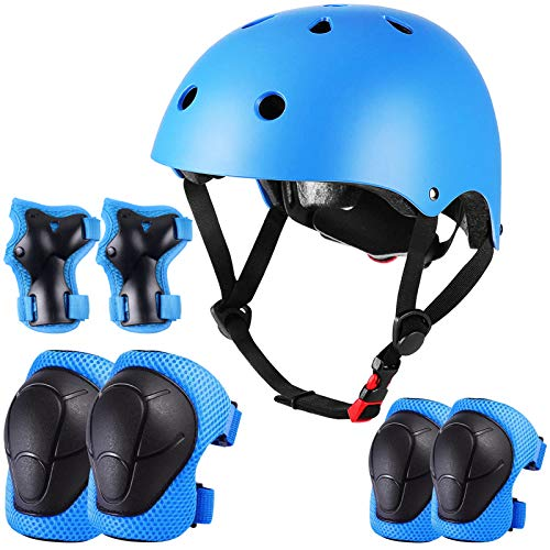 WEPSEN Kids Bike Helmet Toddler Helmet with Sports Protective Gear Set Knee Pads Elbow Pads Wrist Guards for Skateboard, Scooter, Cycling, Roller, Skating