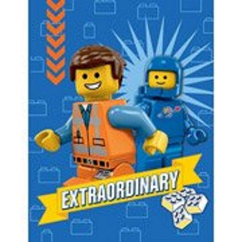 """LEGO The Movie Plush Throw Fleece Blanket 46"""" x 60"""""""