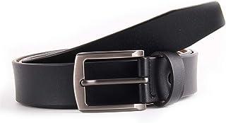 XHyingg Large size men's leather belt pin buckle belt belt super long leather belt length 145cm (Color : Black, Size : 140...