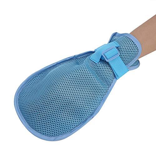 1 Paar Rückhaltehandschuh, Fingerhandschuh mit Schutzhandschuh Atmungsaktiv Einstellbare Patientensicherheit Fingerfeste Handschuhe L.