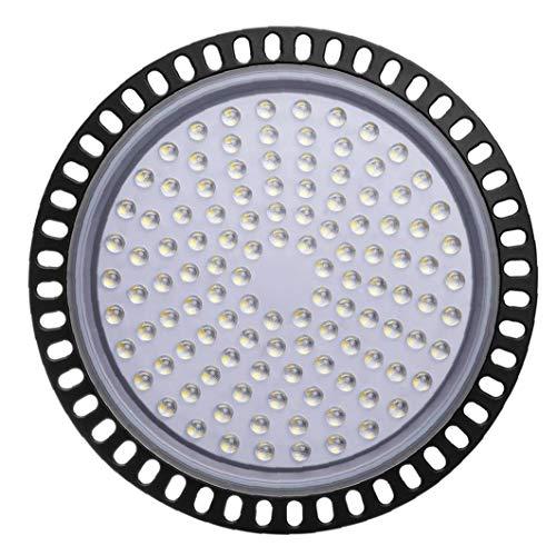 LAANCOOUfo Led High Bay Licht 300W 50000lm 6000K-6500K kühles weißes wasserdichtes ultradünnes LED-Lager-Beleuchtung Garage Fitness Shop Werkstatt Gewerbe Bucht-Licht
