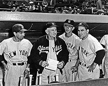 Legends Gallery N Y Yankees Phil Rizzuto Billy Martin Casey Stengel and Yogi Berra 8x10 Picture Photo.